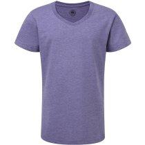 Camiseta de tejido mixto para niñas azul