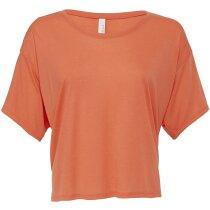 Camiseta ligera de mujer corta naranja