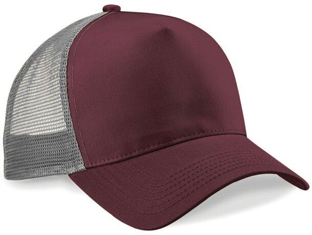 Gorra sencilla con 5 paneles y rejilla trasera personalizada