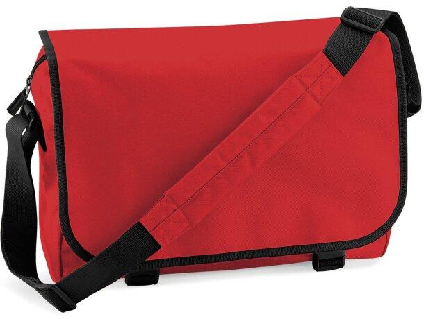 Bolsa de mensajero con correa ajustable roja