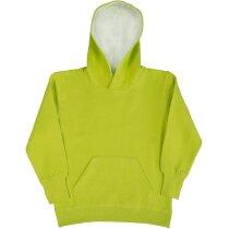 Sudadera con capucha contrastada para niños