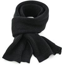 Bufanda de poliester para el frío negra