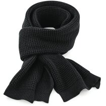 Bufanda de poliester para el frío personalizada negra