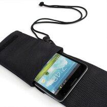 Protección para móvil con colgador personalizado negro