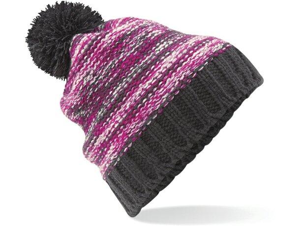 9aa0fe14530a Gorro acabado lana para el frío y decorado