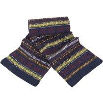Bufanda de punto diseño colorines personalizada azul marino