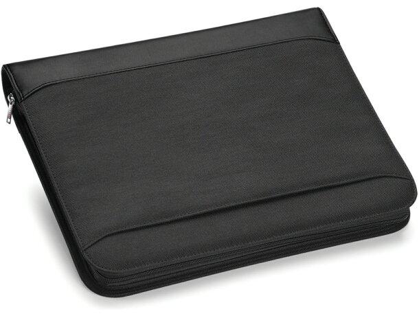 Portafolios de lujo con cierre de cremallera negro