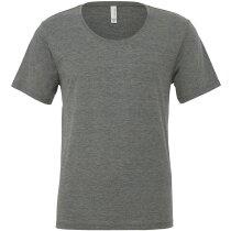 Camiseta Cuello Ancho hombre gris claro