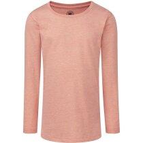 Camiseta manga larga de niña tejido mixto 160 gr coral