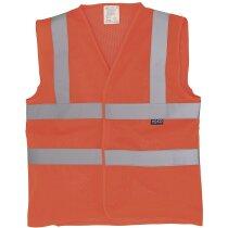 Chaleco de seguridad transpirable para temperaturas altas barato naranja fluor