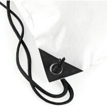 Bolsa mochila con cuerdas de poliéster impermeable blanca personalizado