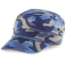Gorra urbana camuflaje azul camuflaje