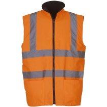 Chaleco de seguridad reversible con polar de hombre barato naranja fluor