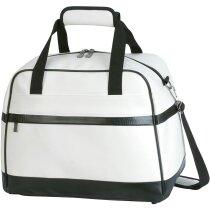 Bolso de viaje con asas acolchadas y resistentes personalizado blanco/negro