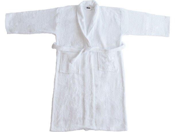 Albornoz en algodón 550 gr personalizado blanco