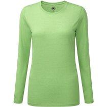 Camiseta de mujer tejido mixto manga larga 160 gr