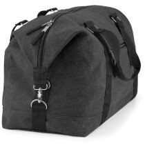 Bolsa de lona con asa y correa para el hombro merchandising negra