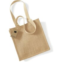 Bolsa de yute con asas largas de algodón Westford Mill personalizada natural