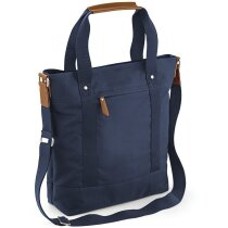 Bolsa vertical con asas de mano y bandolera personalizada azul marino