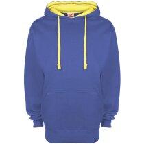 Sudadera con capucha combinada azul