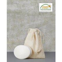 Bolsa pequeña de algodón con cordón ajustable