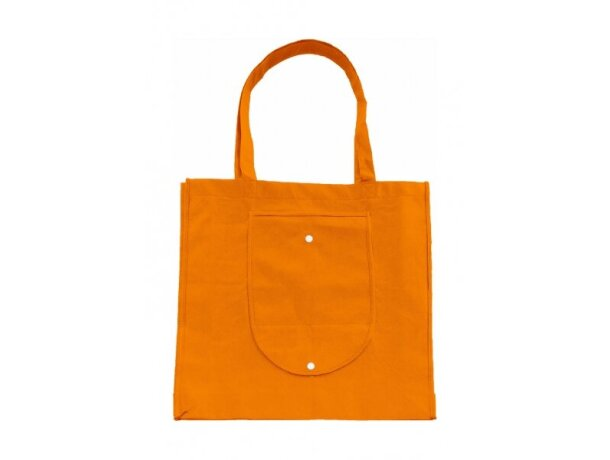 Bolsa plegable con asas largas naranja