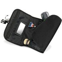 Neceser para colgar con espejo y varios bolsillos personalizado negro