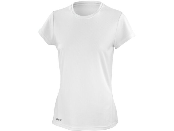 Camiseta de mujer blanca manga corta 160 gr