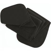 Bufanda polar con un bolsillo personalizada negra