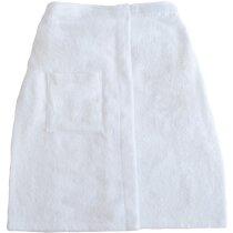 Toalla de algodón con velcro grabada blanca