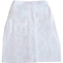 Toalla de algodón con velcro personalizada blanca