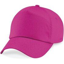 Gorra para niños en colores lisos personalizada fucsia personalizada