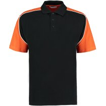 Polo combinado manga corta unisex 200 gr personalizado negro/naranja