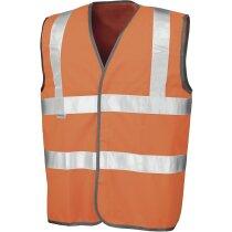 Chaleco unisex con bordes de alta visibilidad personalizado naranja fluor