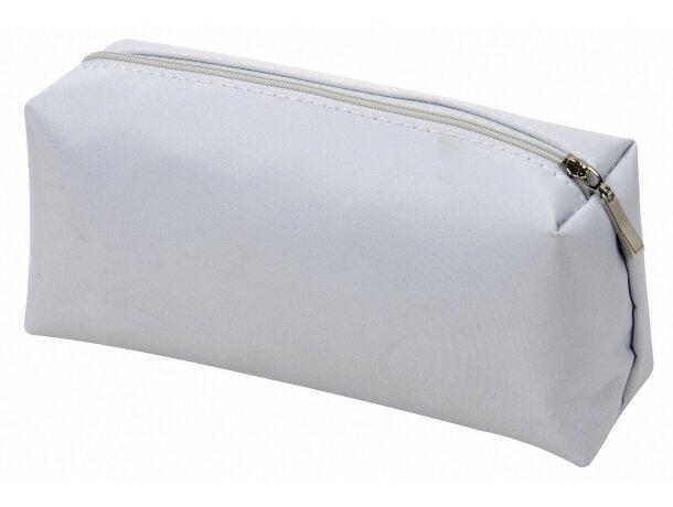 Neceser rectangular de microfibra personalizada blanca