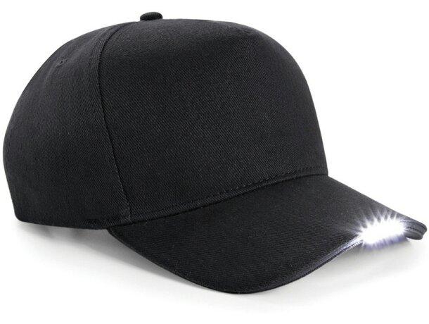 b7739edcd Gorra original de algodón con luz led personalizada negra