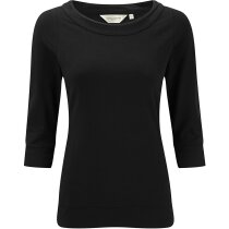 Camiseta de mujer ajustada mangas 3/4  220 gr personalizada negra