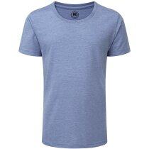 Camiseta de niña tejido mixto azul claro