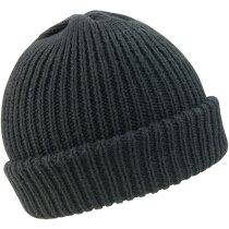 Gorro acabado lana con dobladillo personalizado negro
