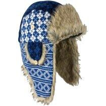 Gorro con orejeras para el frío y la nieve personalizada azul marino