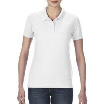 Polo manga corta ajustado de mujer 190 gr personalizado blanco