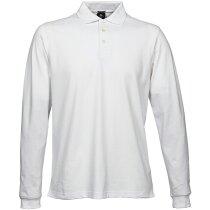 Polo de hombre en algodón personalizado blanco