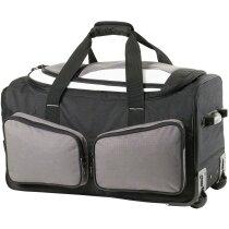 Bolsa trolley de viaje de poliéster de gran calidad personalizada gris