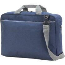 Bolsa maletín para conferencias y reuniones grabado azul marino