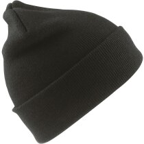 Gorro de Punto acrílico acabado lana personalizado negro