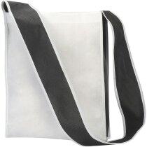Bolsa bandolera amplia personalizada blanco y negro