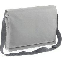 Bolsa bandolera con bolsillo de malla personalizada gris claro