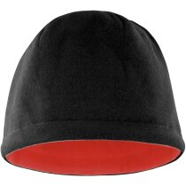 Gorro reversible de diferentes colores personalizado negro/rojo