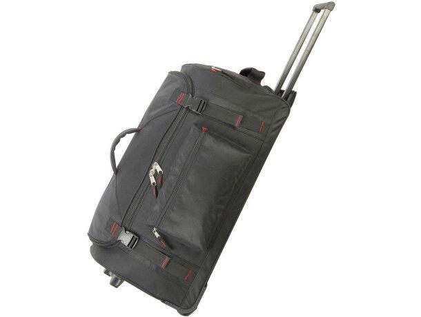 Bolsa trolley con mango reforzado grabada negra