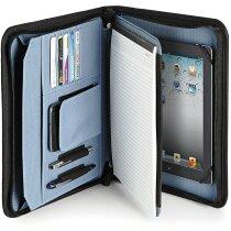 Portafolios con soporte para tablet y bloc de notas negra